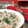 Super Easy Slow Cooker Chicken Stroganoff
