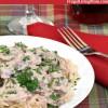 Super Easy Slow Cooker Chicken Stroganoff