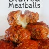 Slowcooker Cheesy Stuffed Meatballs