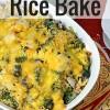 Broccoli Cheddar Rice Casserole with Chicken