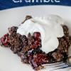 Chocolate Cherry Crumble