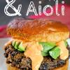 Best Black Bean Burger Recipe with Red Pepper Aioli
