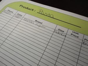 price book template