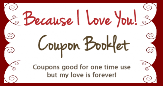 Valentines Coupon Booklet  Free Coupon Book Template