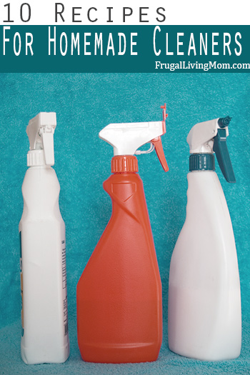 10 Homemade Household Cleaner Recipes