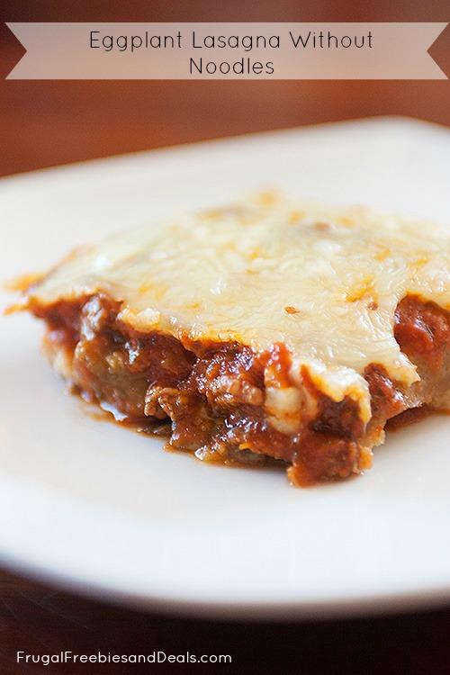 Eggplant Lasagna Without Noodles
