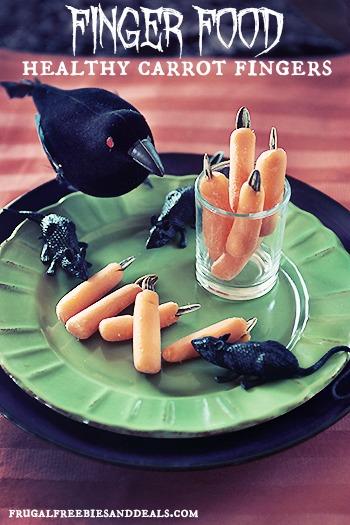 Dedos zanahoria espeluznante