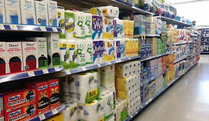 The Walgreens Paper aisle where you can find Ology Paper Products#shop #WalgreensOlogy