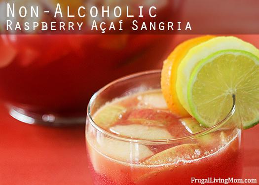 Skinny Non-Alcoholic Raspberry Açaí Sangria