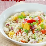 Tangy Mango Red Pepper Rice Salad