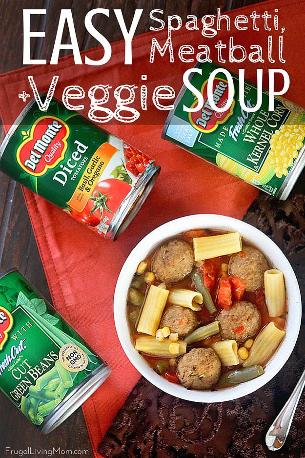 Spaghetti and Meatball Soup Recipe