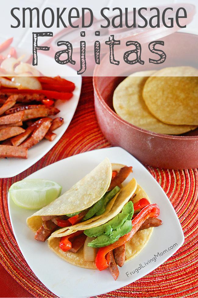 Smoked Sausage Fajitas