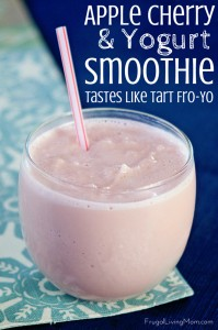 2 Ingredient Apple Cherry Smoothie With Yogurt