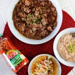 Slow Cooker Taco Meat and Creamy Salsa Dip