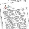 Cleaning Schedule (Free Printout)