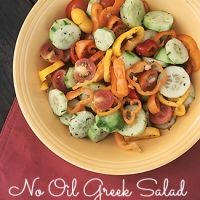 No Oil Greek Salad (0 Point Weight Watchers Recipe)