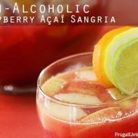 Skinny Non-Alcoholic Raspberry Açaí Sangria #Ad