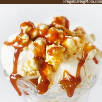 Super Easy Caramel Corn Sundaes