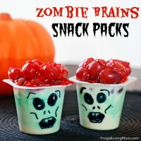 Zombie Brains Pudding Cups