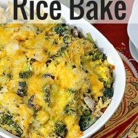 Broccoli Cheddar Rice Casserole with Chicken