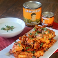 Chipotle Hot Wings with Jalapeño Dressing