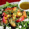 Grilled Peach Salad with Basil