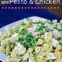 Pasta Salad with Pesto and Chicken