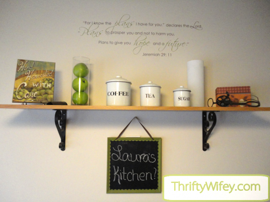 Here's a fun craft to do to spice up your kitchen, living room, hallway, wherever you want to put it! I've always loved the look of a decorative chalkboard ...