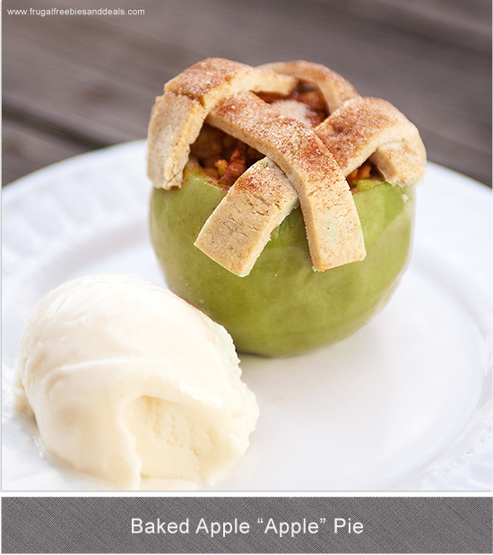 apple pie baked in the apple