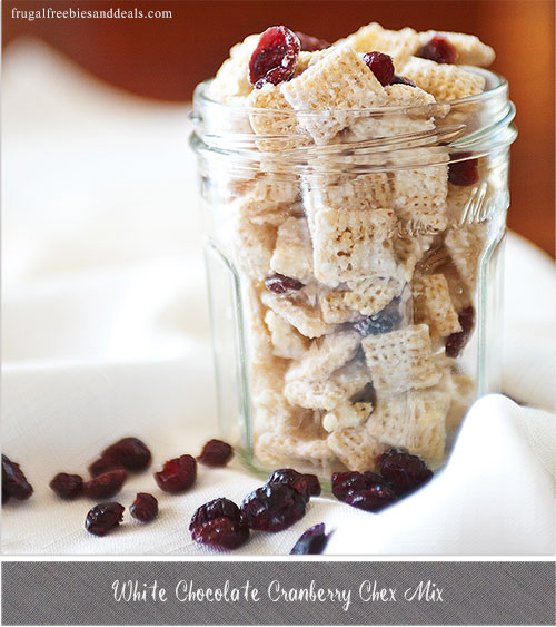 White Chocolate Cranberry Chex Mix - Frugal Living Mom
