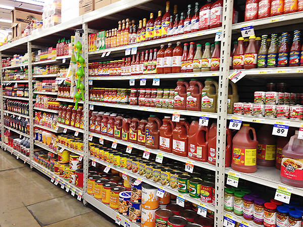 Aisle at my local Smart and Final where I found the Sriracha.