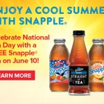 Free Snapple® Tea at Walmart for National Tea Day